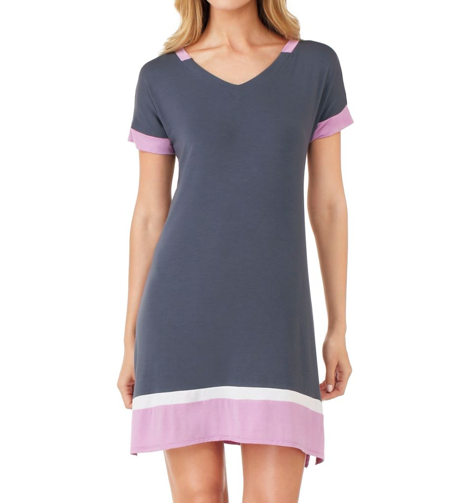 DKNY Color Blocked Short Sleeve Sleepshirt