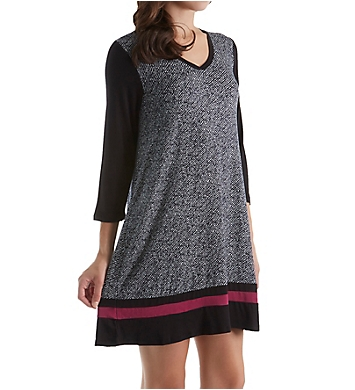 DKNY Urban Essentials 3/4 Sleeve V-Neck Sleepshirt