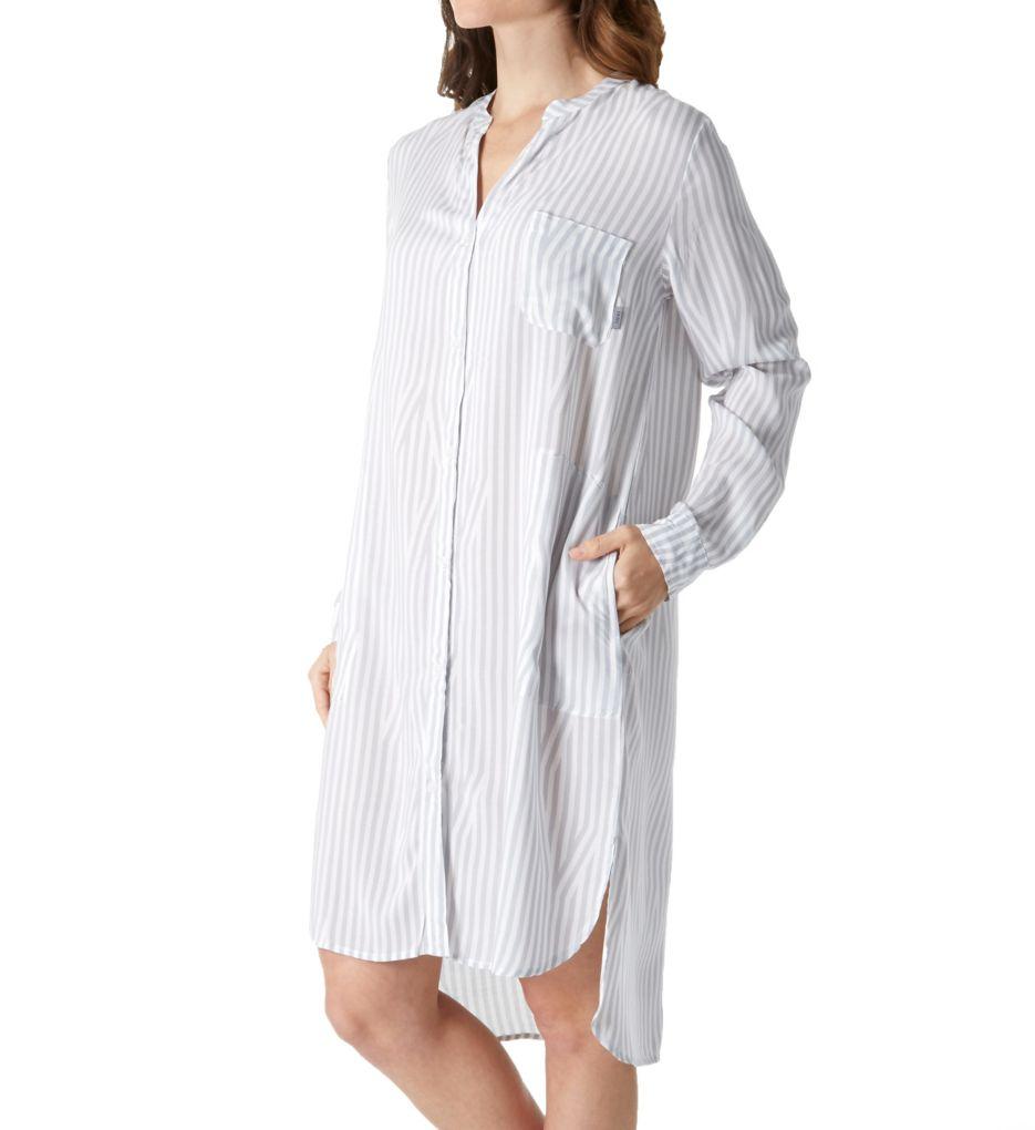 DKNY Clean Slate Long Sleeve Boyfriend Sleepshirt