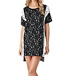 Lace Effects Short Sleeve Sleepshirt