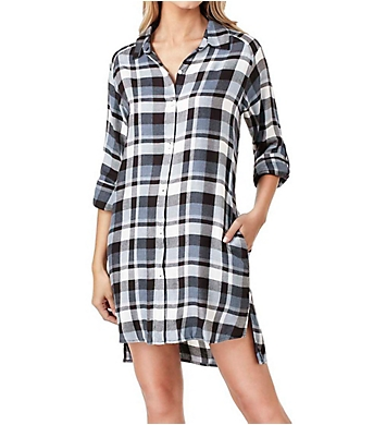 DKNY Checked In Long Sleeve Sleepshirt