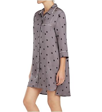 DKNY Modern Dream 3/4 Sleeve Button Front Sleepshirt