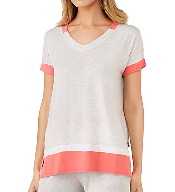 DKNY Color Blocked Short Sleeve Lounge Tee