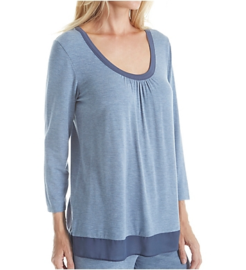 DKNY Urban Essentials 3/4 Sleeve Top
