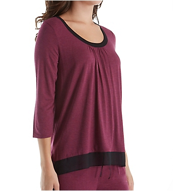 DKNY Urban Essentials 3/4 Sleeve Top
