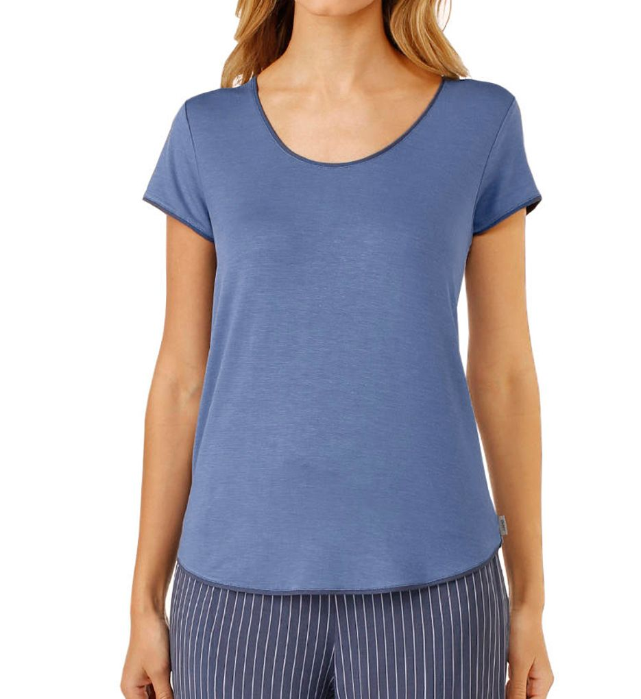 DKNY Blue Note Short Sleeve Top