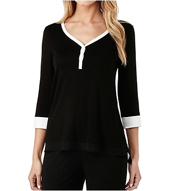 DKNY Season Silhouettes 3/4 Sleeve Top