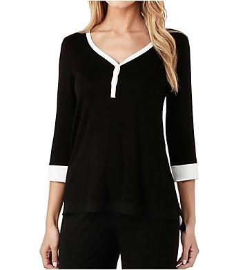 DKNY Season Silhouettes 3/4 Sleeve Top