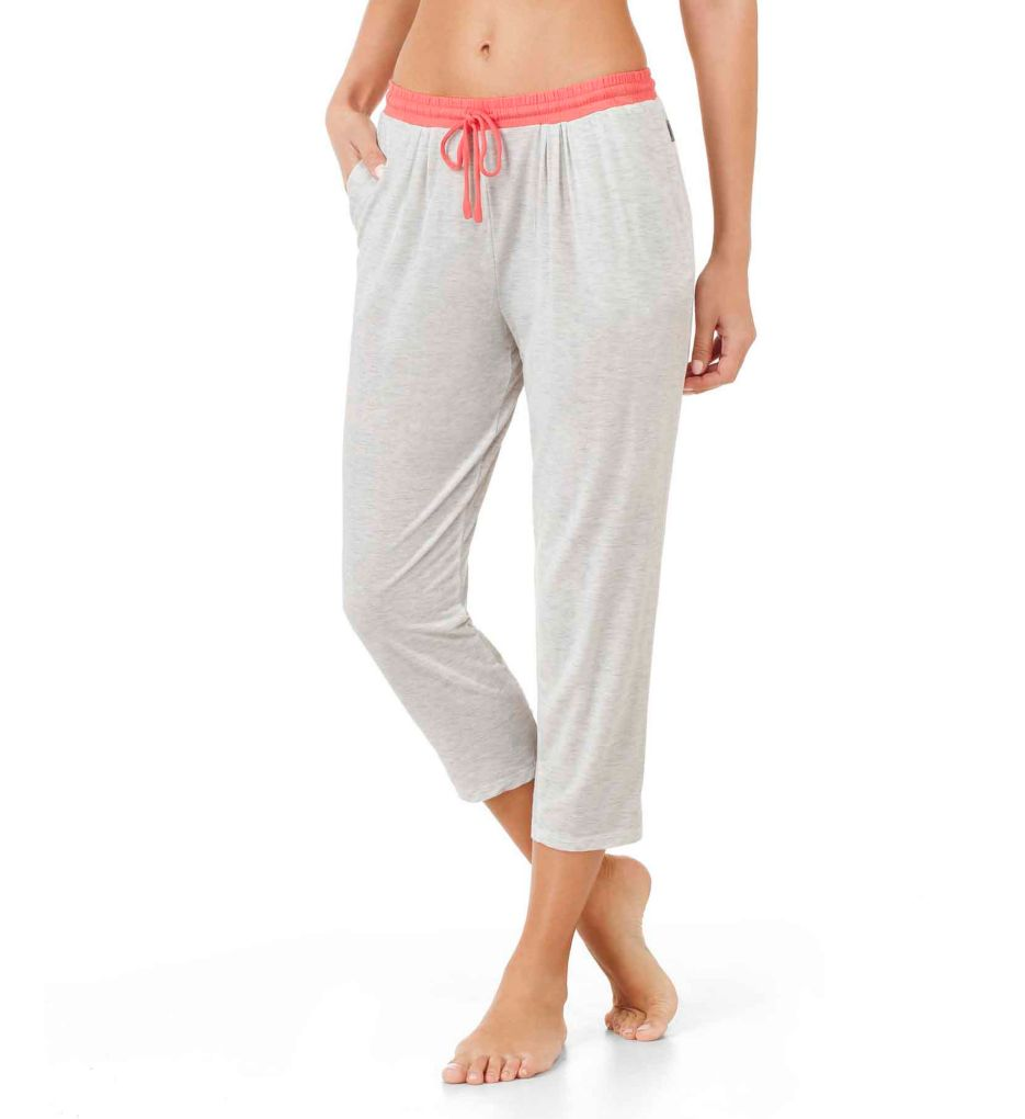 DKNY Color Blocked Cropped Lounge Pant