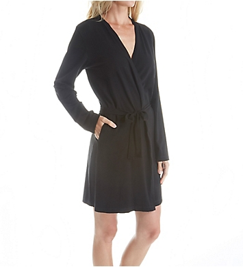 DKNY Soft Jersey Long Sleeve Robe