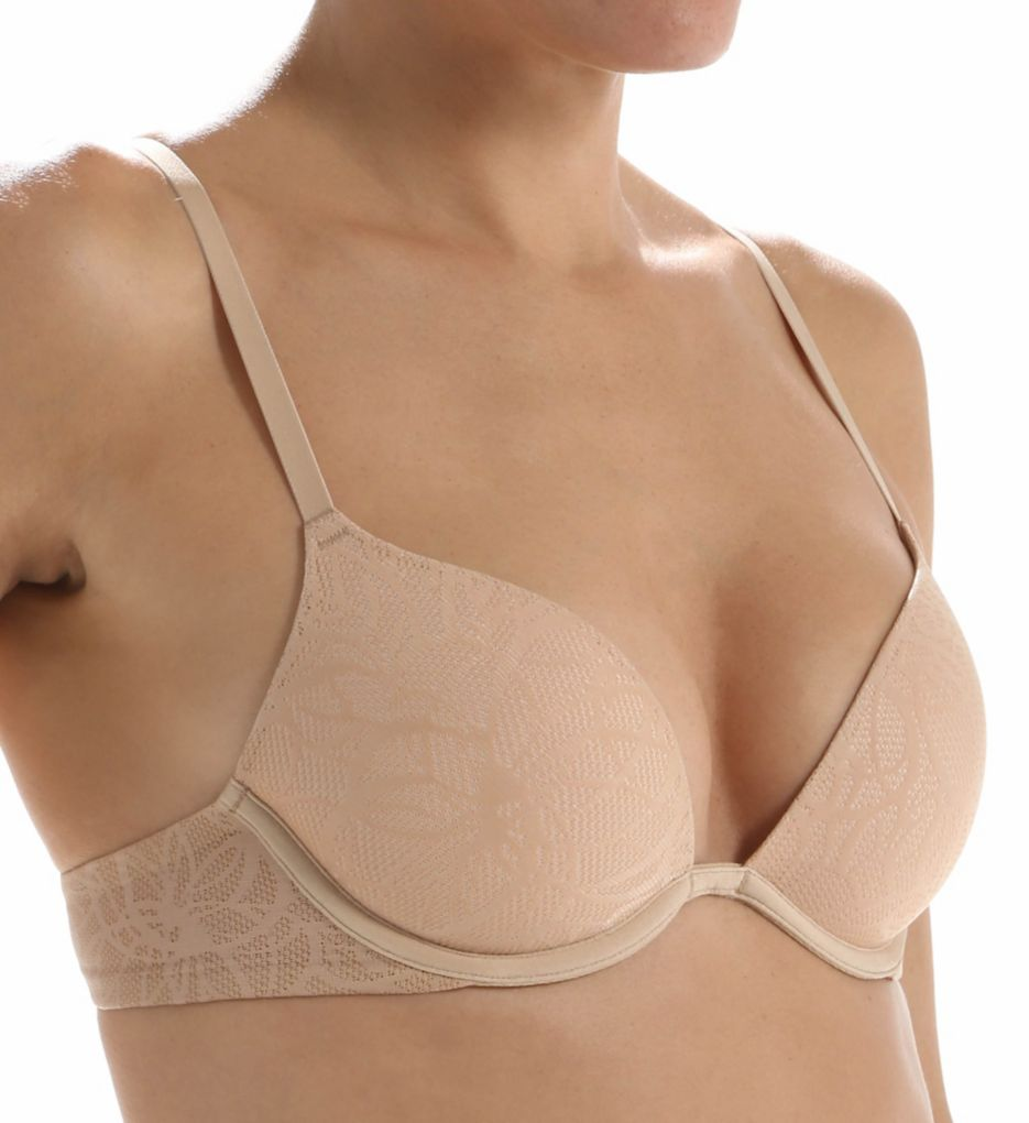 DKNY Signature Lace Plunge Push Up Bra