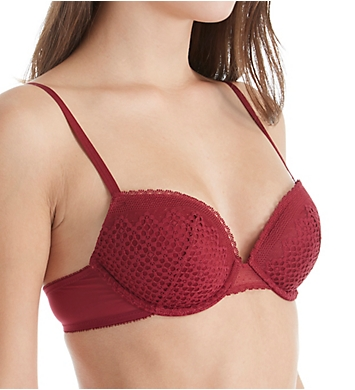 DKNY Sheer Lace Lightweight Push Up Bra