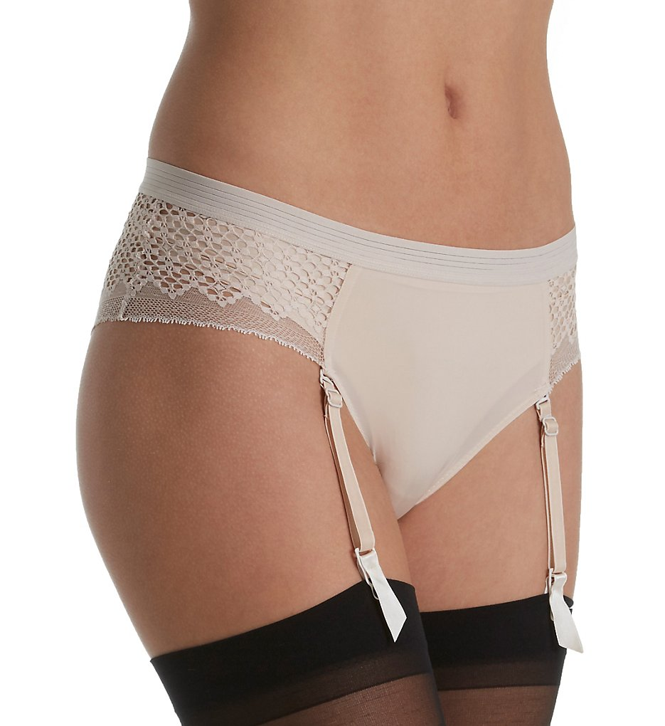 DKNY >> DKNY DK2011 Sheer Lace Garter Panty (Vanity S)