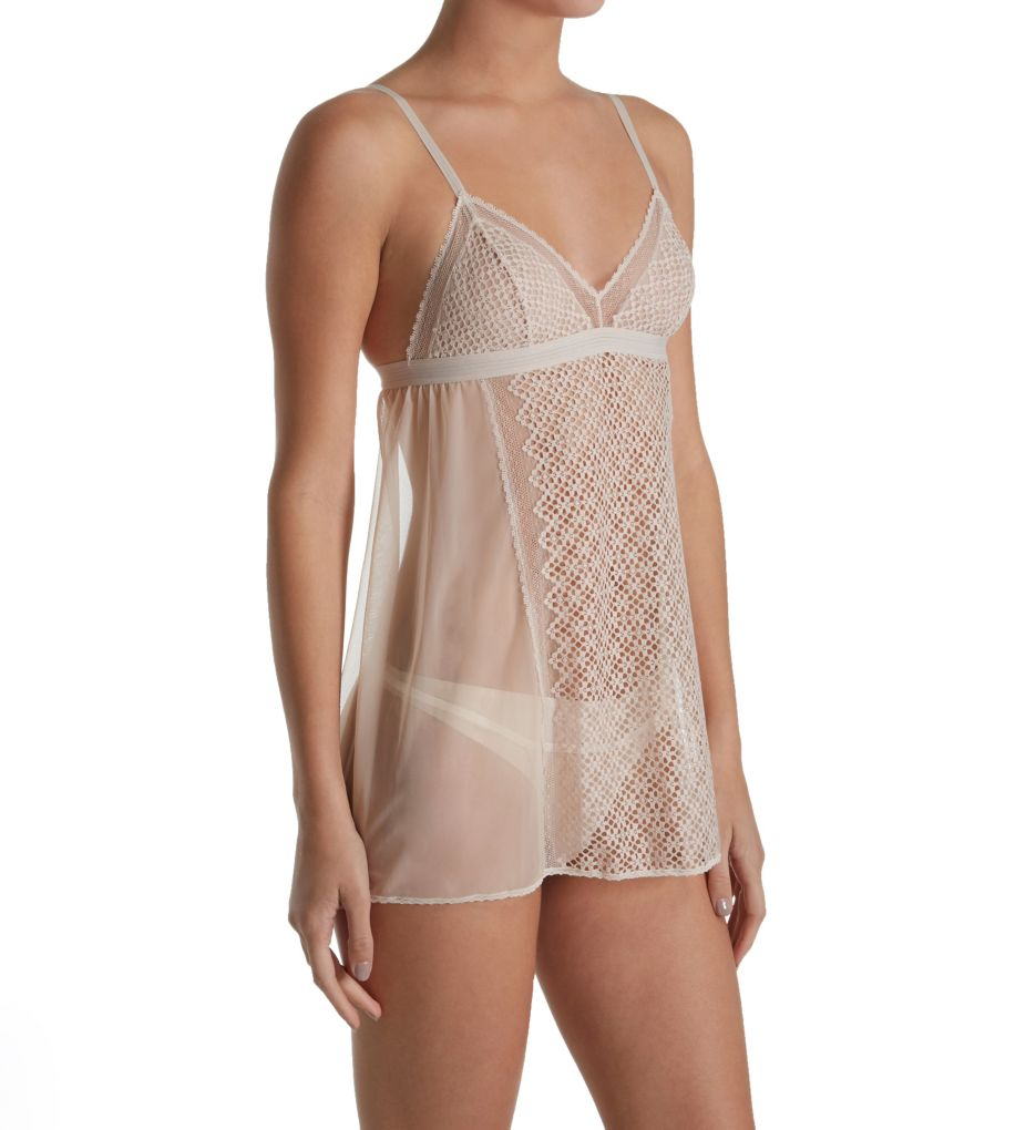 DKNY Sheer Lace Chemise and G-String