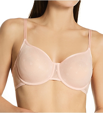 DKNY Monogram Mesh Unlined Demi Bra