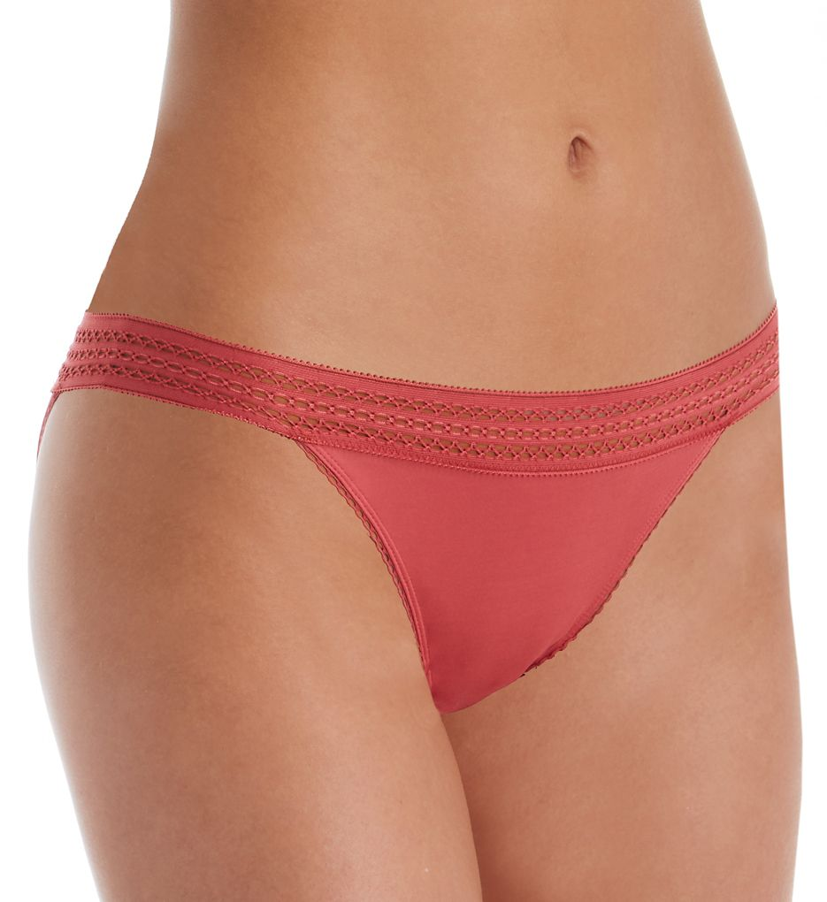 DKNY Classic Cotton Lace Trim Bikini Panty