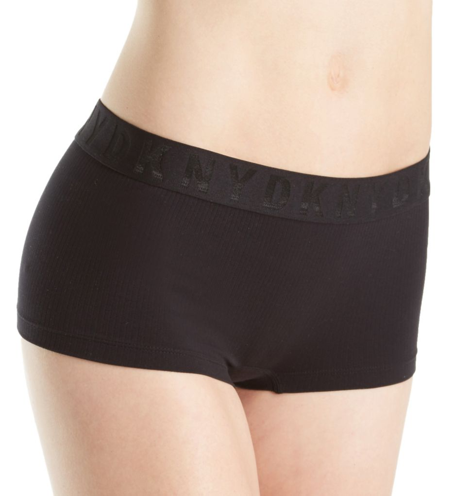 DKNY Seamless Litewear Rib Logo Hipster Panty