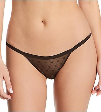 DKNY Monogram Mesh String Bikini Panty