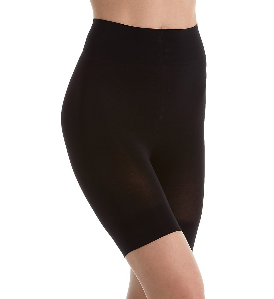 DKNY Hosiery - DKNY Hosiery D0C230 Compression Shaping Boyshort (Black S)