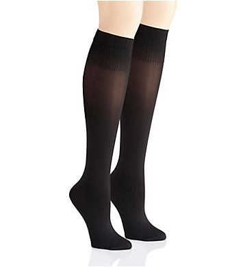 DKNY Hosiery Rib Opaque Knee High - 2 Pack