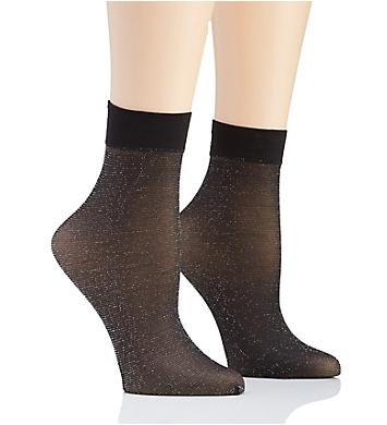 DKNY Hosiery Lurex Anklet - 2 Pack