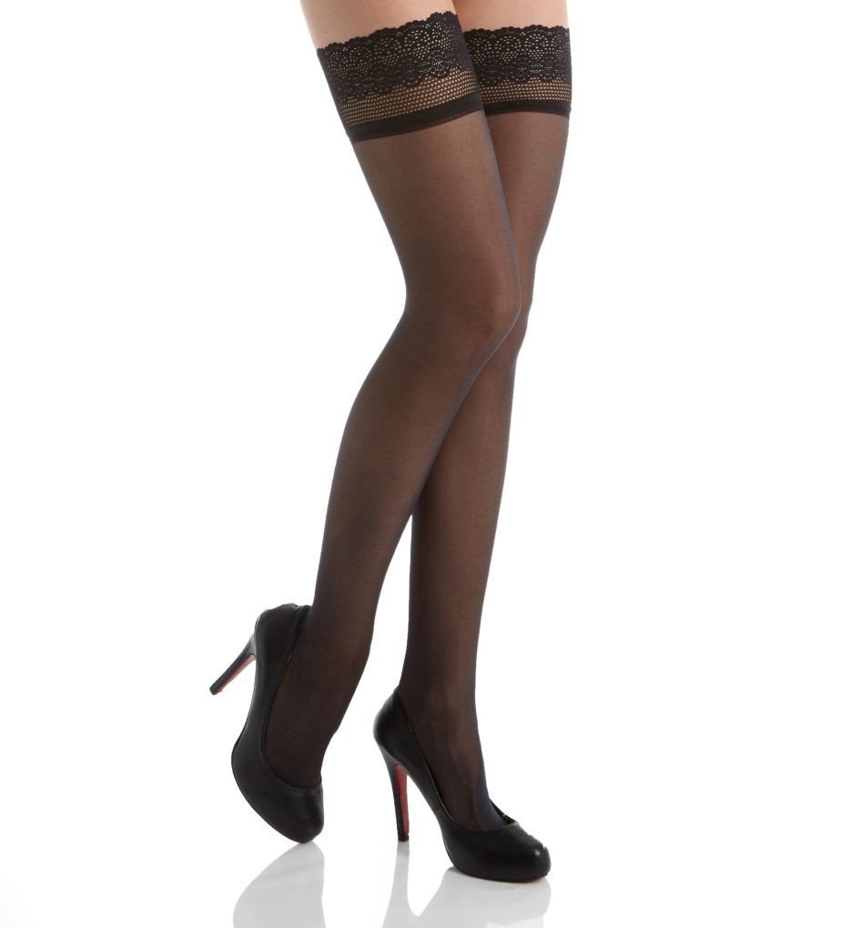 DKNY Hosiery Sheer Lace Thigh High