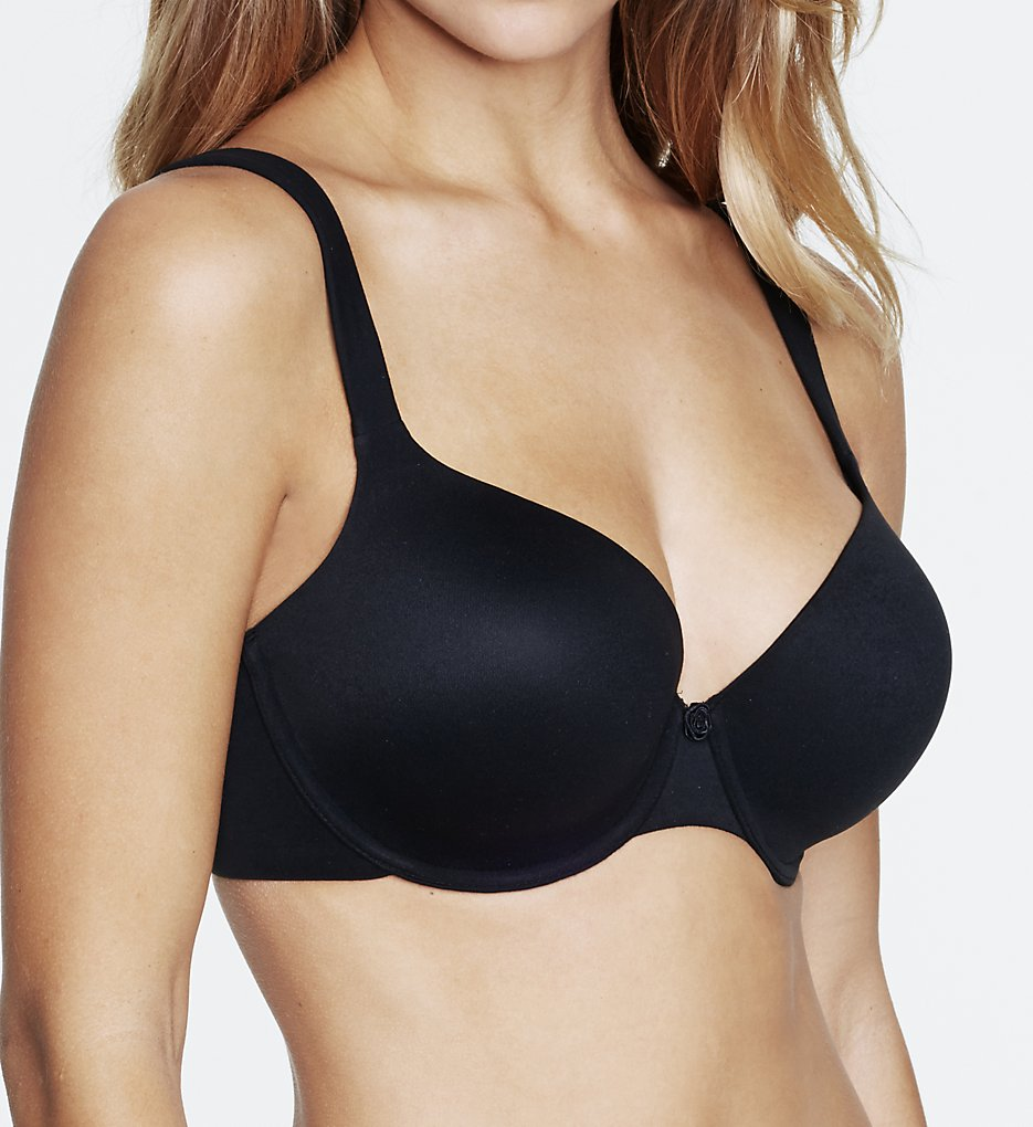 Dominique - Dominique 4500 Maxine Everyday Full-Figure T-Shirt Bra (Black 32DD)