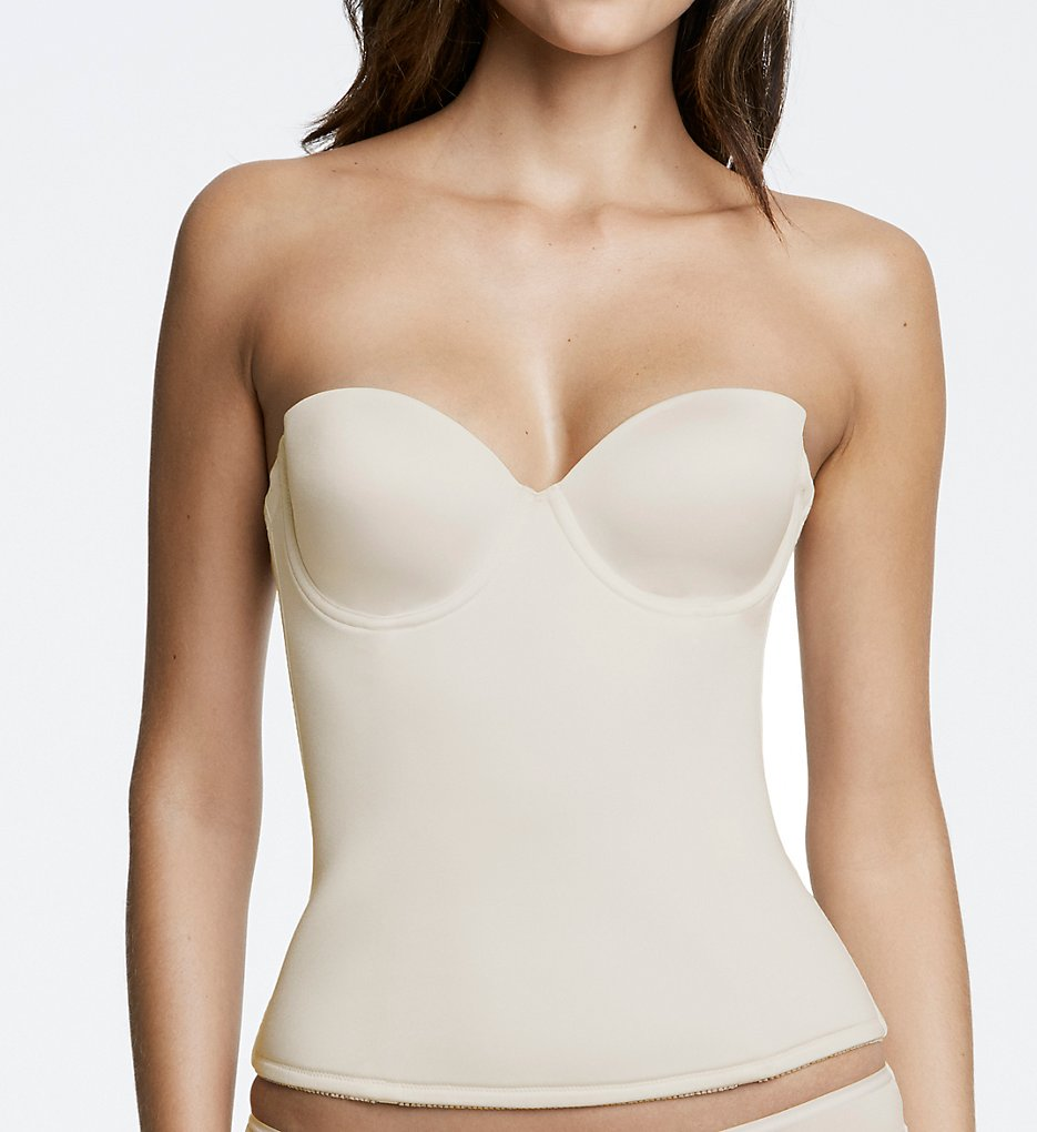 Dominique >> Dominique 8500 Paige Seamless Padded Longline Bra (Bone 32B)