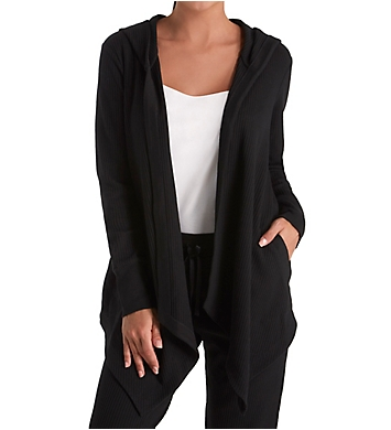Donna Karan Sleepwear Lounge Hooded Cozy Jacket