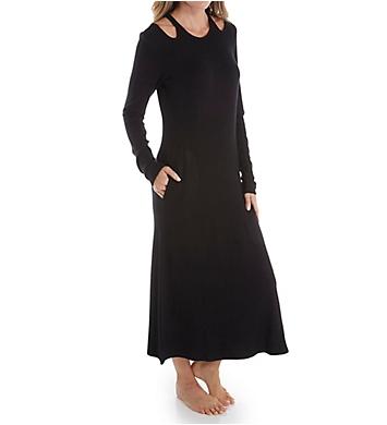 Donna Karan Sleepwear Sweater Jersey Long Gown
