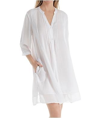 Donna Karan Sleepwear 3/4 Sleeve Woven Sleepshirt