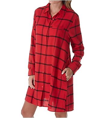Donna Karan Sleepwear Flannel Nights Sleepshirt