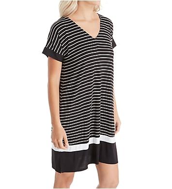 Donna Karan Sleepwear Get in Line Short Sleeve Sleepshirt