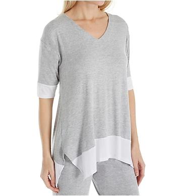 Donna Karan Sleepwear Waves 3/4 Sleeve Top