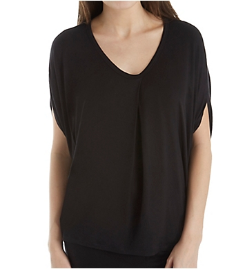 Donna Karan Sleepwear Drapey Short Sleeve Top