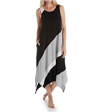 Donna Karan Sleepwear Graphic Long Gown