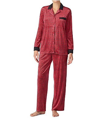 Donna Karan Sleepwear A Notch Above Satin Trim PJ Set