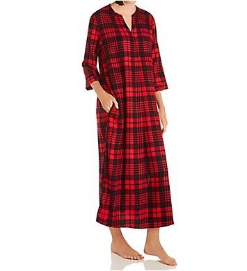 Donna Karan Sleepwear Plaid Maxi Sleepshirt