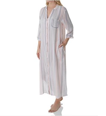 Donna Karan Sleepwear Allegory Long Button Front Gown
