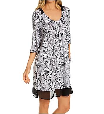 Donna Karan Sleepwear Grey Animal Sleepshirt