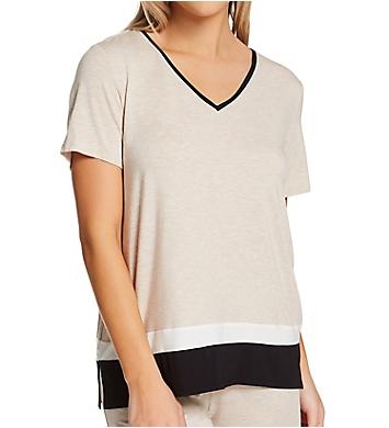 Donna Karan Sleepwear Short Sleeve Sleep Top