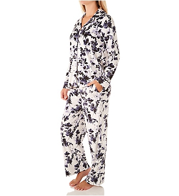 Donna Karan Sleepwear Stretch Velour Signature PJ Set