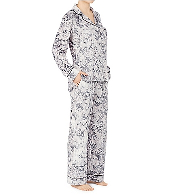 Donna Karan Sleepwear Stretch Velour Signature PJ