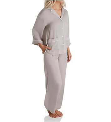 Donna Karan Sleepwear Before Sunrise Satin PJ Set