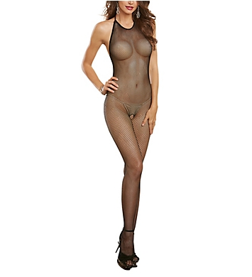 Dreamgirl Seamless Fishnet Open Crotch Bodystocking