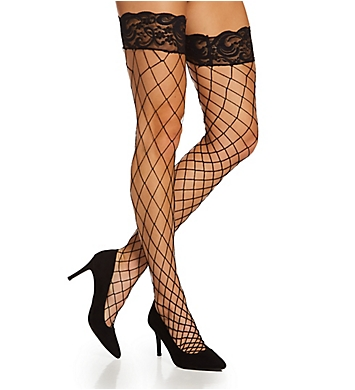 Dreamgirl Fence Net Thigh High Stockings