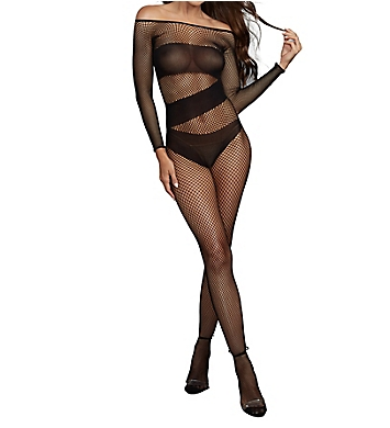 Dreamgirl Fishnet Long Sleeve Bodystocking