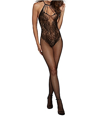 Dreamgirl Fishnet Bodystocking with Lace Teddy Design