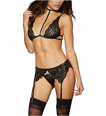 Dreamgirl Three Piece Lace Garter Set