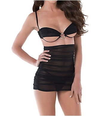 Dreamgirl Three Piece Bralette and Skirt with G-String Set
